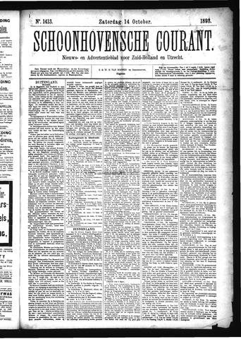 Schoonhovensche Courant 1893-10-14