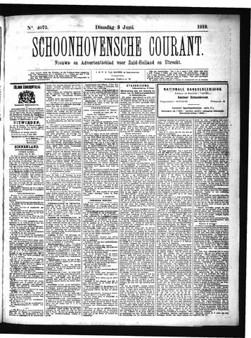 Schoonhovensche Courant 1919-06-03