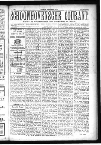 Schoonhovensche Courant 1922-09-08