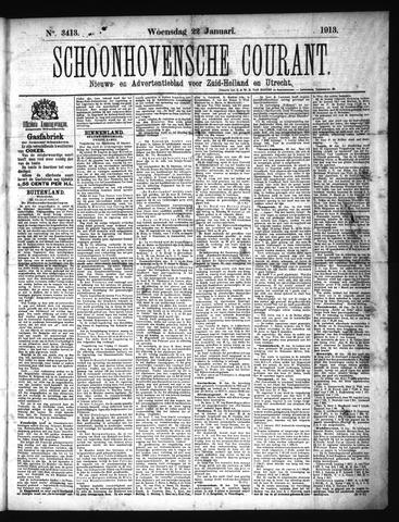 Schoonhovensche Courant 1913-01-22