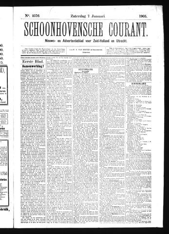 Schoonhovensche Courant 1905-01-07