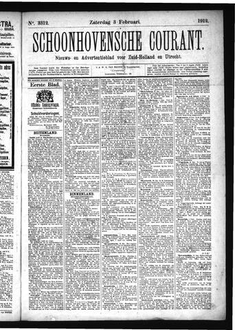 Schoonhovensche Courant 1912-02-03