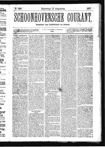 Schoonhovensche Courant 1887-08-13