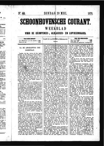 Schoonhovensche Courant 1870-05-29