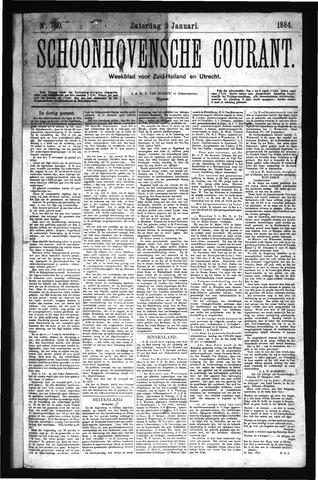 Schoonhovensche Courant 1884-01-05