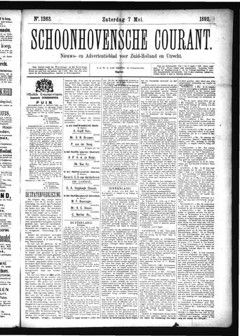 Schoonhovensche Courant 1892-05-07