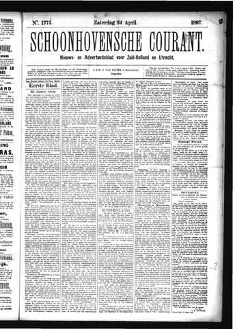 Schoonhovensche Courant 1897-04-24