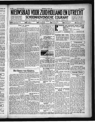 Schoonhovensche Courant 1936-04-22