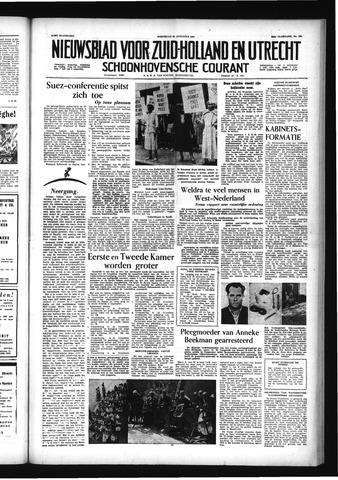 Schoonhovensche Courant 1956-08-22