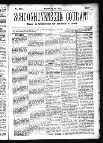 Schoonhovensche Courant 1902-07-19