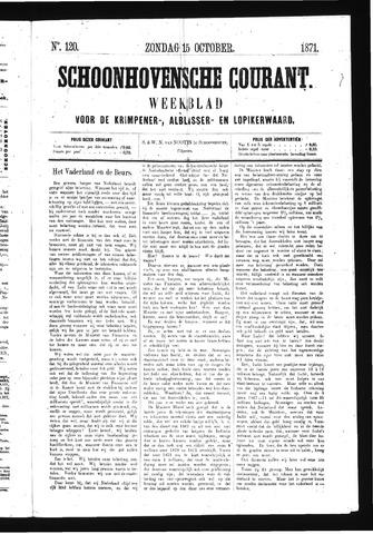 Schoonhovensche Courant 1871-10-15
