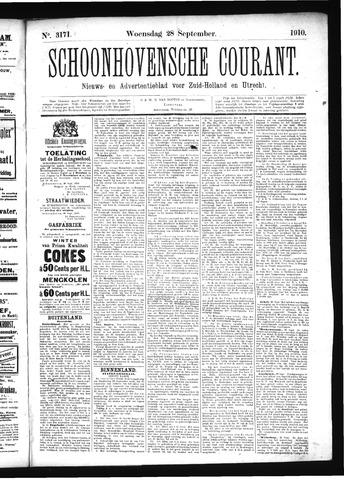 Schoonhovensche Courant 1910-09-28