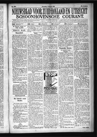 Schoonhovensche Courant 1928-02-01