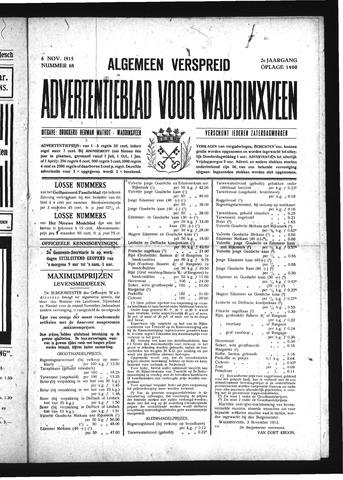 Advertentieblad Waddinxveen 1915-11-06
