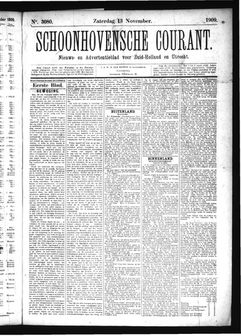 Schoonhovensche Courant 1909-11-13