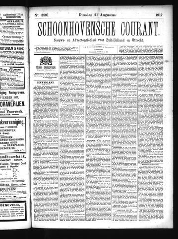 Schoonhovensche Courant 1917-08-21