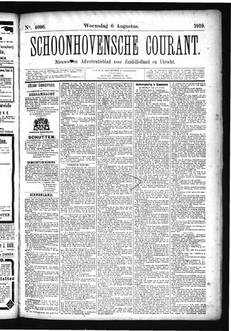 Schoonhovensche Courant 1919-08-06