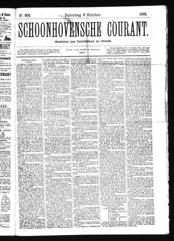 Schoonhovensche Courant 1886-10-09