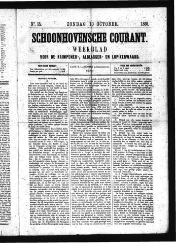 Schoonhovensche Courant 1869-10-10