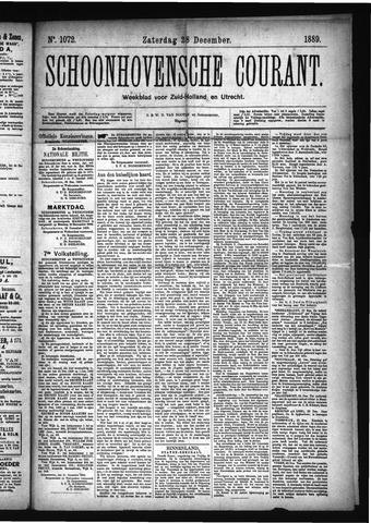 Schoonhovensche Courant 1889-12-28