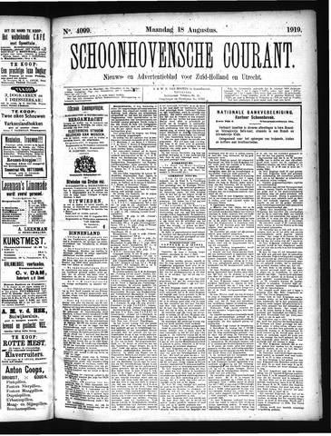 Schoonhovensche Courant 1919-08-18