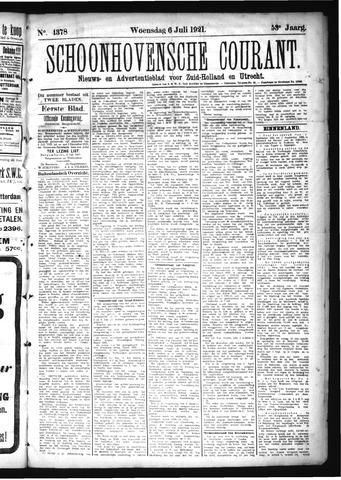 Schoonhovensche Courant 1921-07-06
