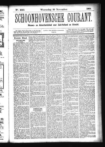 Schoonhovensche Courant 1904-11-30