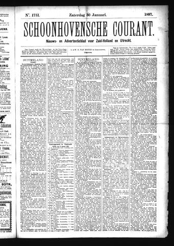 Schoonhovensche Courant 1897-01-30