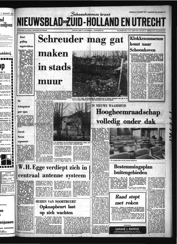 Schoonhovensche Courant 1977-03-09