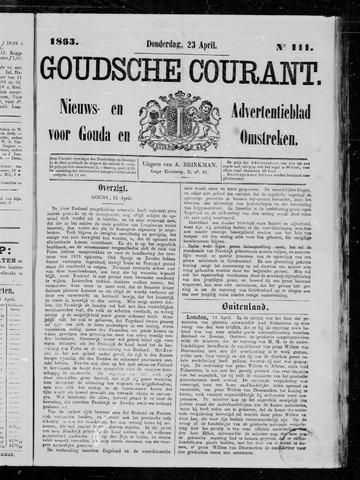 Goudsche Courant 1863-04-23