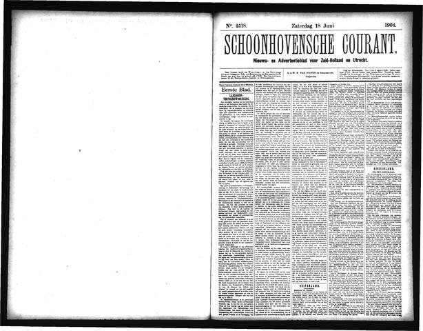 Schoonhovensche Courant 1904-06-18