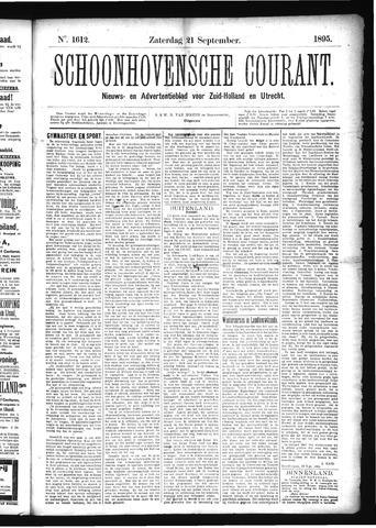 Schoonhovensche Courant 1895-09-21