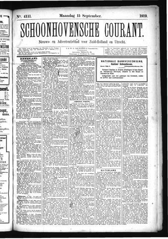 Schoonhovensche Courant 1919-09-15