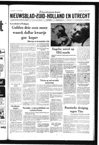 Schoonhovensche Courant 1971-12-20