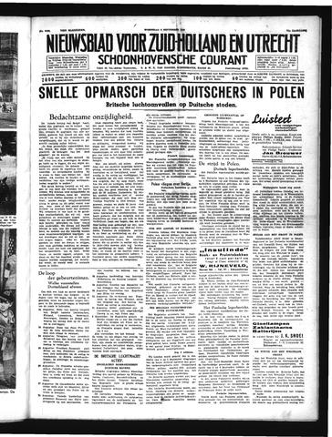 Schoonhovensche Courant 1939-09-06