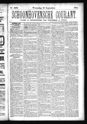 Schoonhovensche Courant 1914-09-16