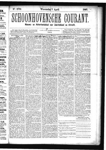 Schoonhovensche Courant 1897-04-07