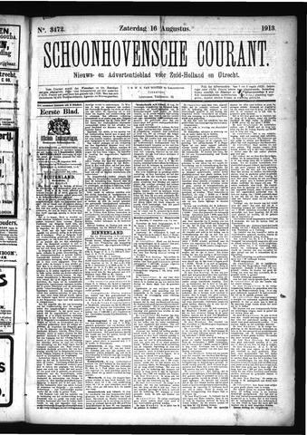 Schoonhovensche Courant 1913-08-16