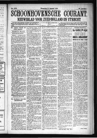 Schoonhovensche Courant 1927-01-17