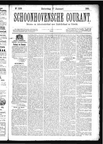 Schoonhovensche Courant 1891-01-17