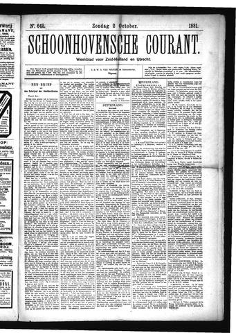Schoonhovensche Courant 1881-10-02