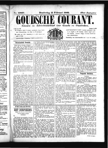 Goudsche Courant 1909-02-11