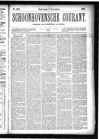 Schoonhovensche Courant 1888-12-01