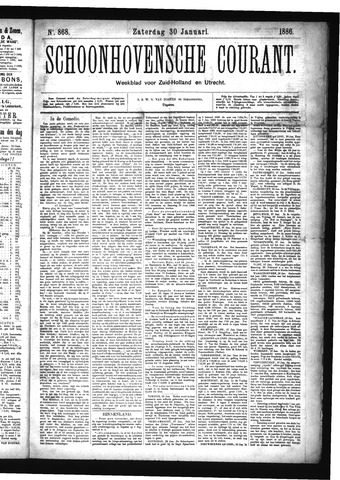 Schoonhovensche Courant 1886-01-30