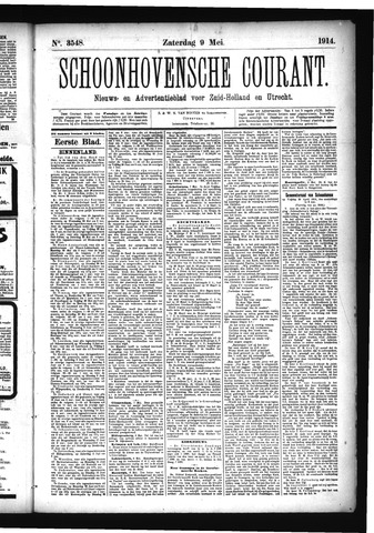 Schoonhovensche Courant 1914-05-09