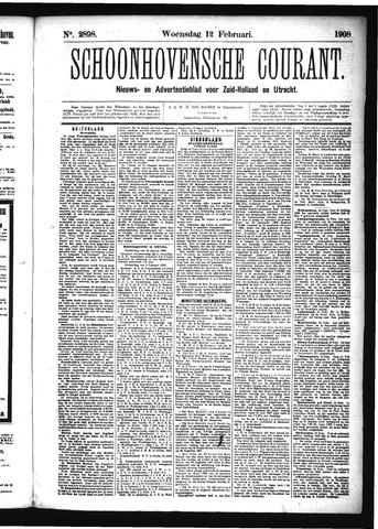 Schoonhovensche Courant 1908-02-12