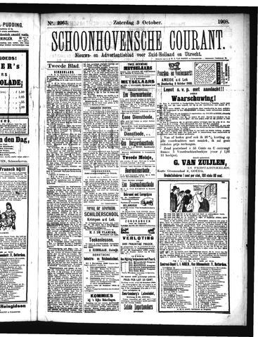 Schoonhovensche Courant 1908-10-03