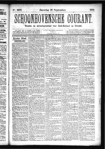 Schoonhovensche Courant 1912-09-28