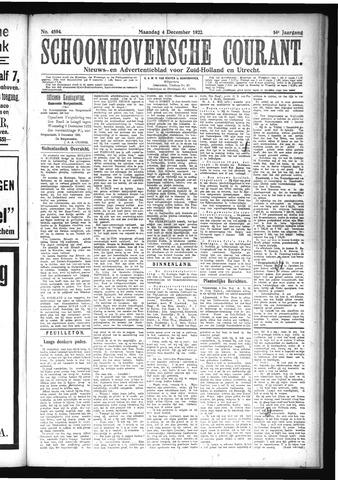 Schoonhovensche Courant 1922-12-04