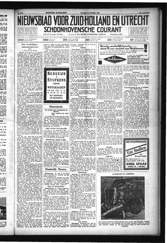 Schoonhovensche Courant 1932-10-28